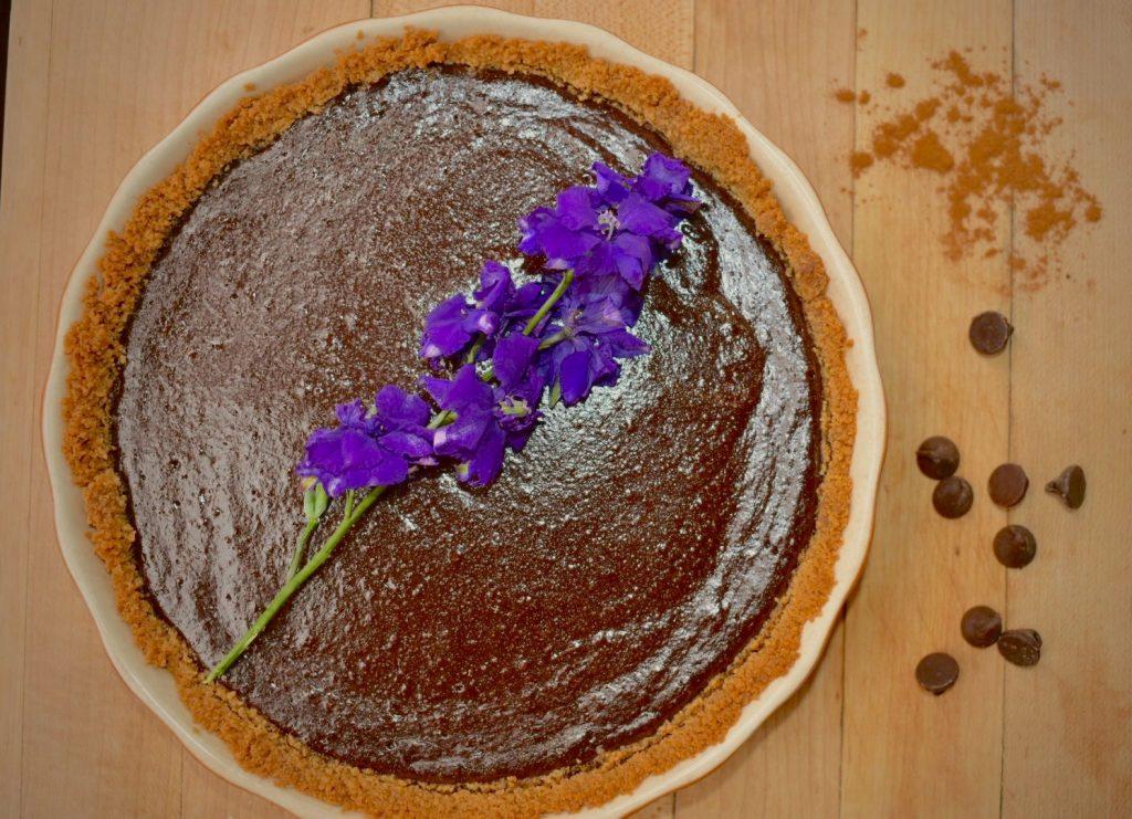 Flower and Spice Dark Chocolate Tart