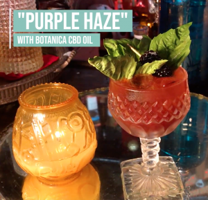 Purple Haze Cocktail with Botanica CBD