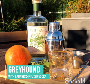 Greyhound Cocktail with Cannabis-Infused Vodka
