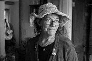 Dolores Halbin in black and white picture