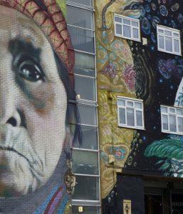 woman's face wall art