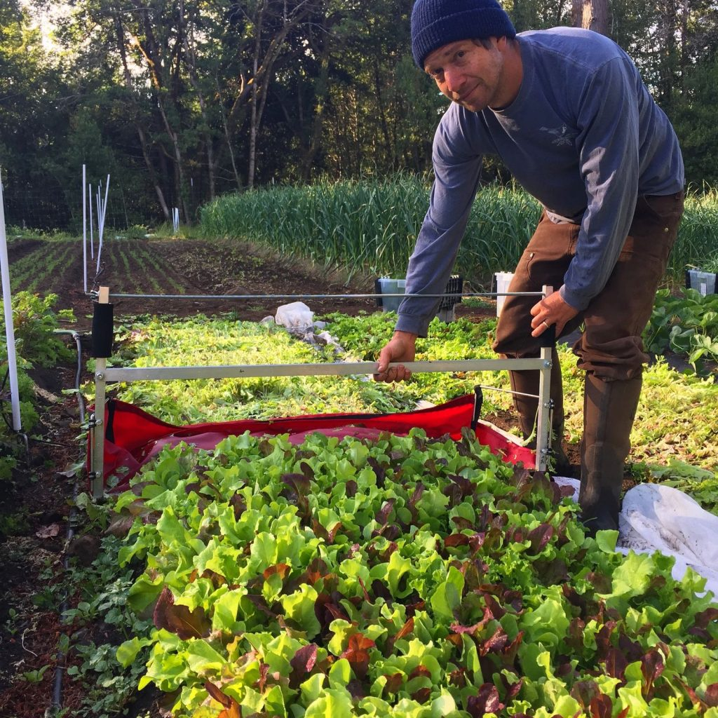 Daniel Stein at work on the farm. Photo taken from Briceland Forest Farm  website.