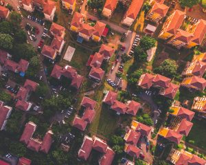 bird's eye photography of red and orange houses