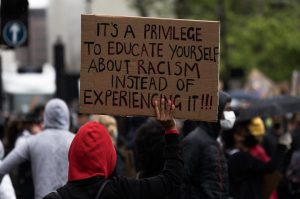 racism and discrimination sign