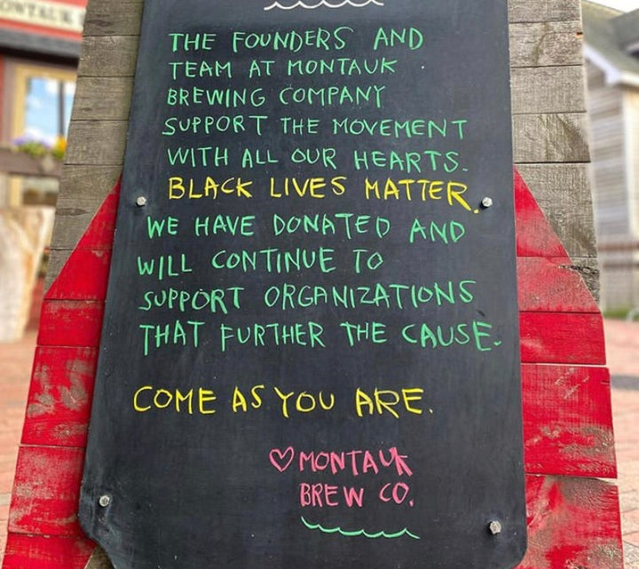 Montauk brewing company on Black Lives Matter