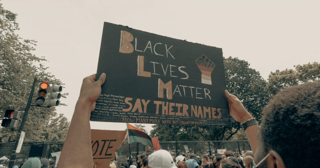 Black Lives Matter movement sign