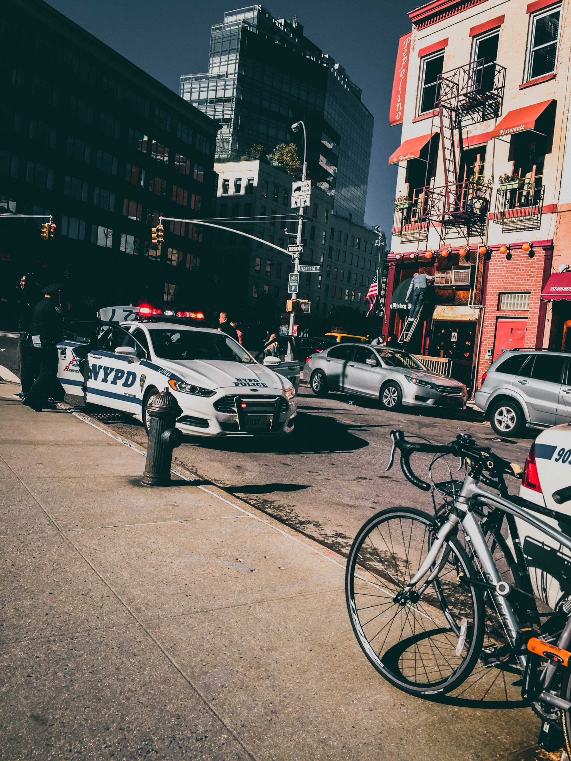 parked police