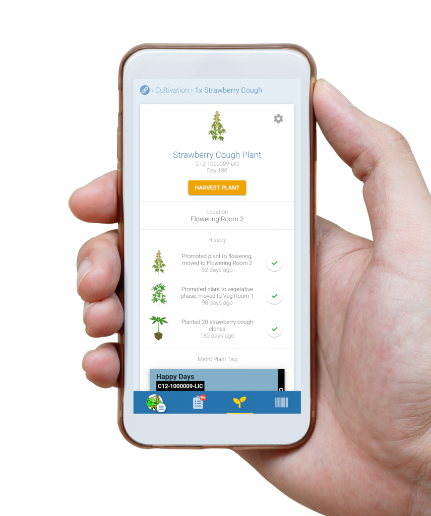 Sellout Launches Fast, Easy and Free Metrc Cultivation Reporting. App landing page photo