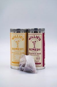 a picture of tea from the Willie's Remedy brand of products