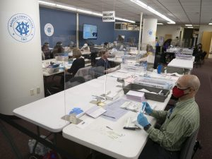 Vote counters in Washoe County, Nevada.