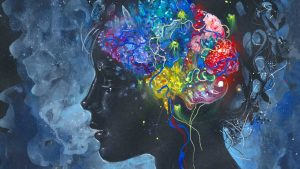 Psychedelics affecting a person's brain chemistry.
