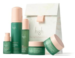 High Beauty products in green packaging