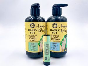 Honey Pot Laganja Estranja CBD Body Lotion, Wash and Lip Balm